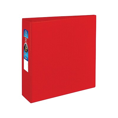 Avery Heavy-Duty 3 3-Ring Non-View Binder, Red (79583)