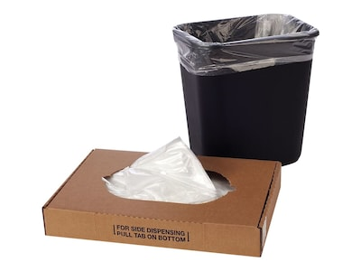 """7-10 Gallon Clear Trash Bags 50 Pack//1 Roll Small Can Liners 24/"""" X 24/"""" 8 Mic"""
