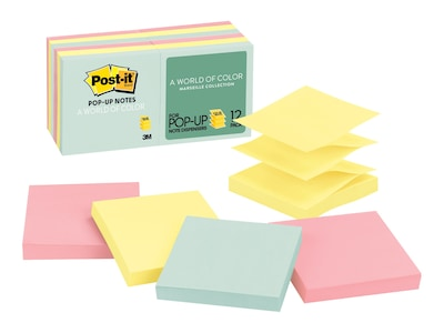 "Post-it Standard Notes, 3"" x 3"" Marseille, 100 Sheets/Pad, 12 Pads/Pack (R330-12AP)"