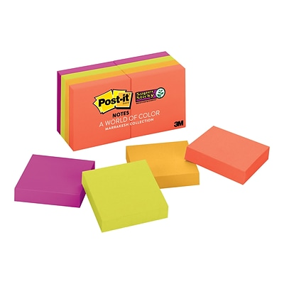 Post-it Super Sticky Notes, 2 x 2 Marrakesh, 90 Sheets/Pad, 8 Pads/Pack (622-8SSAN)
