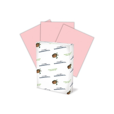 Hammermill Fore MP Colors Multipurpose Paper, 20 lbs., 8.5 x 14, Pink, 500/Ream (103390)