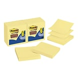 Post-it Super Sticky Notes, 3 x 3 Canary, 90 Sheets/Pad, 12 Pads/Pack (R330-12SSCY)