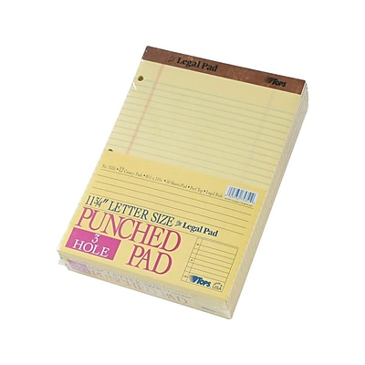 TOPS Legal Notepad, 8.5 x 11.75, Wide Ruled, Canary Yellow, 50 Sheets/Pad, 12 Pads/Pack (TOP 75351)