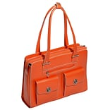 McKlein W Series, VERONA, Genuine Cowhide Leather, Fly-Through Checkpoint-Friendly Ladies Laptop Br