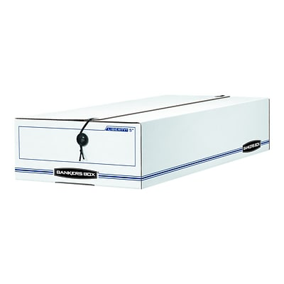 Bankers Box Liberty Corrugated Boxes, 9.5W x 23.27H Size, White/Blue, 12/Carton (00007)