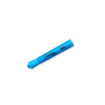 Sharpie Tank Highlighters, Chisel, Blue, Dozen (25010)