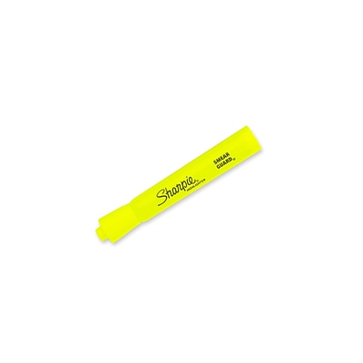 Sharpie Tank Highlighters, Chisel, Yellow, Dozen (25025)