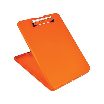 Saunders US-Works SlimMate Polypropylene Storage Clipboard, Hi-Vis Orange (00579)