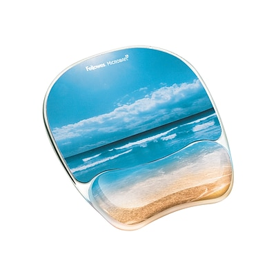 Fellowes Photo Gel Mouse Pad/Wrist Rest Combo, Multicolor (9179301)