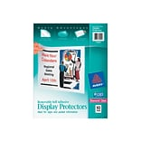 Avery Removable Polypropylene/PP File Pockets, Diamond Clear, 10/Pack (74404)