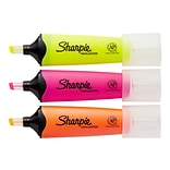 Sharpie Clear View Highlighters, Chisel, Assorted, 8/Pack (1971843)
