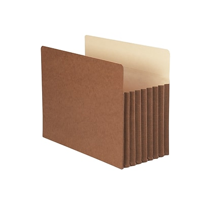 Smead TUFF Redrope File Pockets, 7 Expansion, Letter Size, Brown, 5/Box (73395)