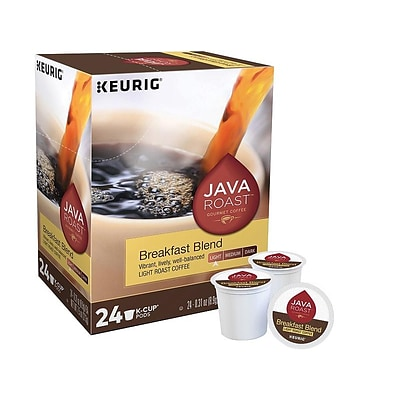 Java Roast Breakfast Blend Coffee Keurig K-Cup Pods Light Roast, 24/Box