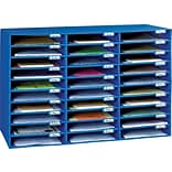 Pacon Classroom Keepers 21H x 31.63W Corrugated Mailbox, Blue, Each (001388)