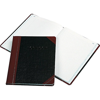 Boorum & Pease Log Record Book, 8.13W x 10.38H, Black (G21-150-R)