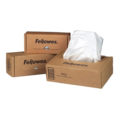 Fellowes Shredder Bags 7 Gal., 100/Box (36052)