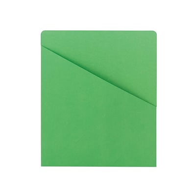 Smead File Jackets, Letter Size, Green, 25/Pack (75432)