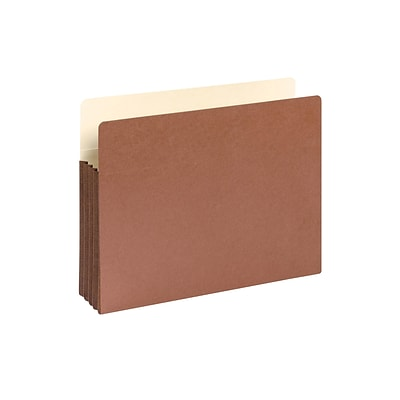 Smead Redrope File Pockets, 3.5 Expansion, Letter Size, Brown, 10/Box (73264)
