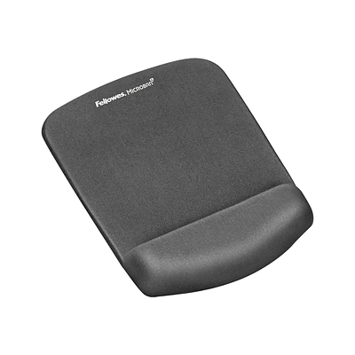 Fellowes PlushTouch Foam Mouse Pad/Wrist Rest Combo, Graphite (9252201)