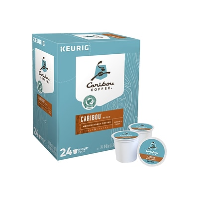 Caribou Blend Coffee, Keurig K-Cup Pods, Medium Roast, 24/Box (6992)