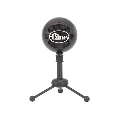 Blue Microphones Snowball 836213001912 Wired Condenser Microphone, Gloss Black