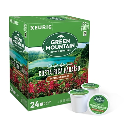 Green Mountain Costa Rica Paraiso, Keurig K-Cup Pods, Medium Roast, 24/Box (611247380871)