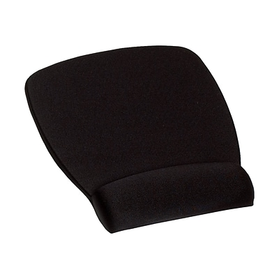 3M™ Mouse Pad with Foam Wrist Rest, Durable Fabric Cover, Anti-Microbial Product Protection, 8.62 x 6.75, Black (MW209MB)