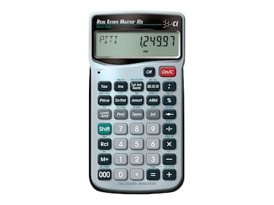 Calculated Industries Real Estate Master 3405 9 digit Real Estate & Mortgage Calculator, Silver/Black