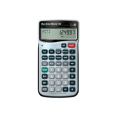 Calculated Industries Real Estate Master 3405 9-digit Real Estate & Mortgage Calculator, Silver/Black