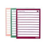Poppin Message Pads, 4 x 5, Assorted, 100 Sheets/Pad, 3 Pads/Pack (105758)