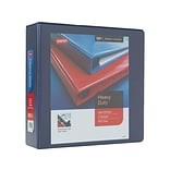 Staples Heavy Duty 3 3-Ring View Binder, Blue (24691)
