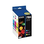 Epson 786 Color Combination Ink Cartridges, Standard, 3/Pack (T786520-S)
