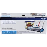 Brother TN 221C Cyan Toner Cartridge, Standard
