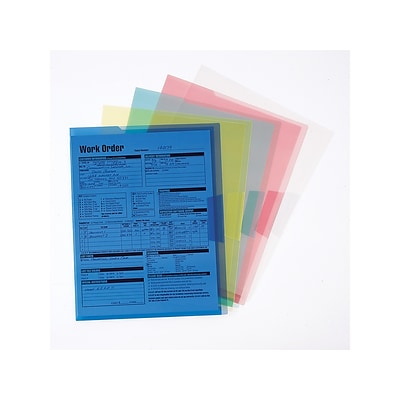 Smead Organized Up Translucent Poly File Jackets, Letter Size, Assorted, 5/Pack (85750)