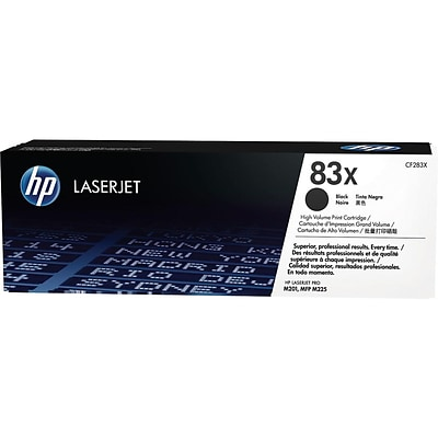 HP 83X Black Toner Cartridge, High Yield (CF283X)