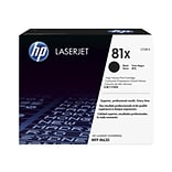HP 81X Black Toner Cartridge, High Yield (CF281X)