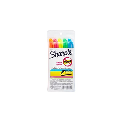Sharpie Pocket Stick Highlighters, Chisel, Assorted, 5/Pack (27075)