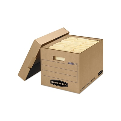 Bankers Box Mystic Heavy Duty Corrugated Boxes, Letter/Legal Size, Kraft, 25/Carton (7150001)