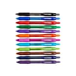 Paper Mate Profile Retractable Ballpoint Pens, Bold Point, Assorted Ink, 12/Pack (1788863)