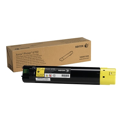 Xerox 106R01509 Yellow Toner Cartridge, High Yield