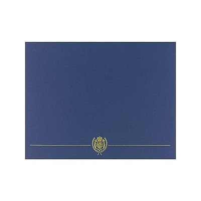 Great Papers Classic Crest 9.38 x 12 Certificate Covers, Navy, 5/Pack