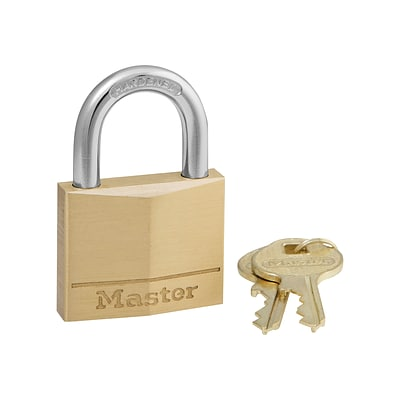 Master Lock Key Padlock, 4/Box (140D)