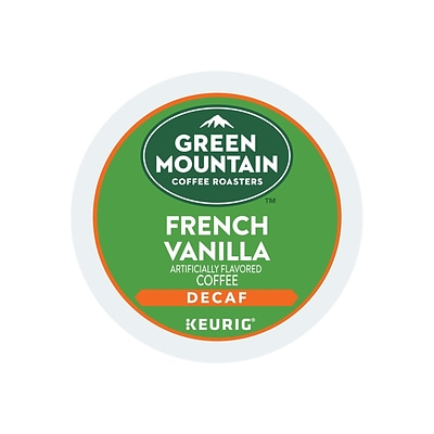 Green Mountain Coffee Roasters French Vanilla Coffee, Keurig® K-Cup® Pods, Light Roast, 24/Box (7732)