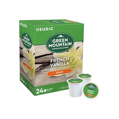 Green Mountain Coffee Roasters Decaf French Vanilla Coffee, Keurig® K-Cup® Pods, Light Roast, 24/Box (7732)