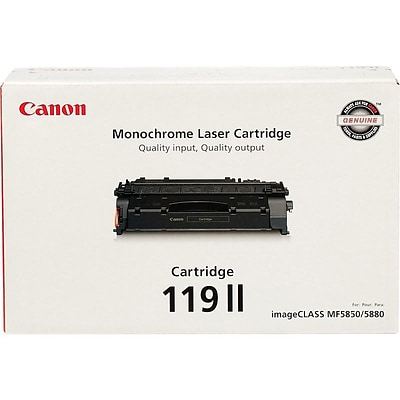 Canon 119 II Black Toner Cartridge, High Yield (3480B001)