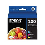 Epson 200 Color Combination Ink Cartridges, 3/Pack (T200520-S)