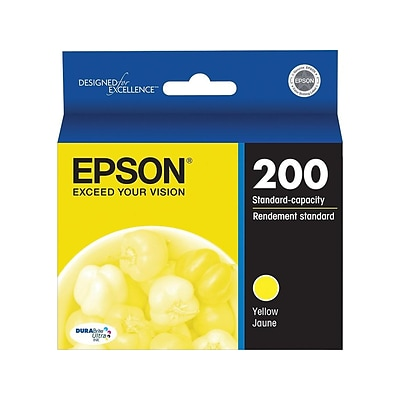 Epson 200 Yellow Ink Cartridge, Standard (T200420-S)