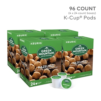 Green Mountain® Hazelnut Coffee, Keurig® K-Cup® Pods, Light Roast, 96/Carton (GMT6792CT)