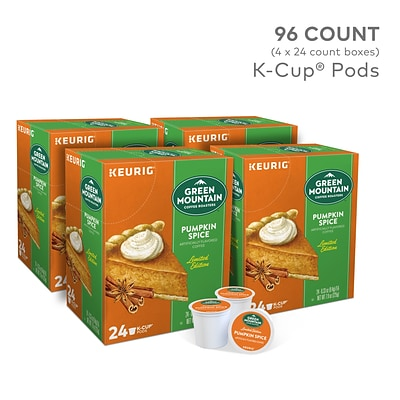 Green Mountain Pumpkin Spice Coffee, Keurig® K-Cup® Pod, Light Roast, 96/Carton (6758)
