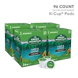 Green Mountain Lake & Lodge Coffee, Keurig® K-Cup® Pods, Dark Roast, 96/Carton (65234)